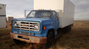 1976 GMC 6000 with 22 ft Van Body, Cab is Excellent