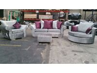 *** NEW DQF 3&2 *Crush Velvet* Corner Sofa ONLY £499 ***