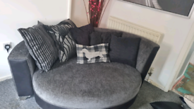 Big dfs cuddle chair and 4 seater sofa