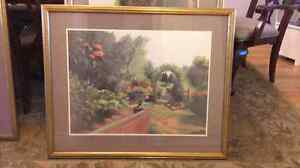 Vintage painting with frame