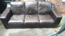 FREE DELIVERY!!LEATHER 3 SEATER SOFA