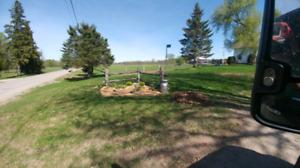 Fill manure & gravel mulch