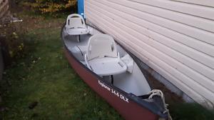 14.6 foot Pelican Explorer Deluxe Canoe