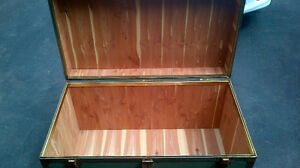 Metal chest cedar lined