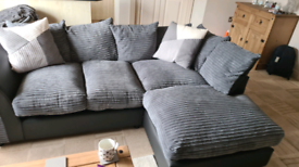 Argos grey corner sofa less then year old