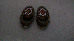 moose hide beaded slippers