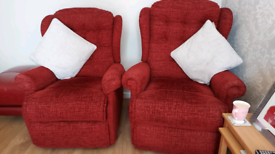 Rise and recline pair of armchairs