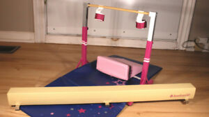 American Girl doll gymnastics playset
