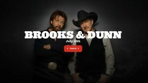 Brooks & Dunn FLOOR Seats. Row 14 Seats 3-6