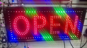 LED OPEN - SPA - HALAL Sign