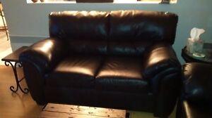 sofa et causause cuir et similicuir (les 2 mcx)