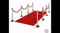 Red carpet or backdrop stand or stanchion for rent.