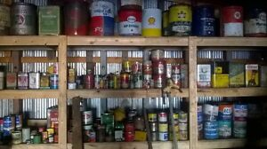Large amount of antique cans