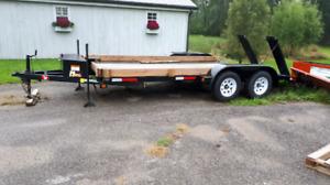 Brand new double axle car hauler