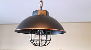 Modern Industrial style pendant lights x 3