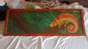 Chameleon painting by local artist E. Norris