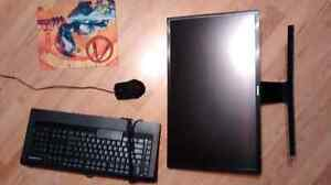 Gaming accessories, CURVED monitor, keyboard, mouse