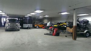 we have interior heated storage for car motorcycle seadoo boat..