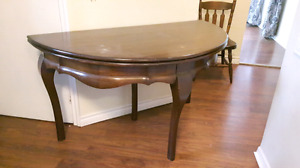 Antique Folding Dining Table with 4 Chairs