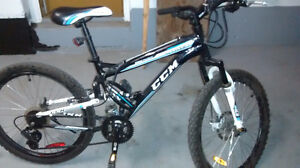 CCM Static Full Suspension Mountain Bike, 15-in
