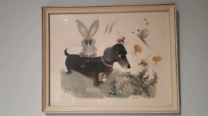 1963 collectable childrens art piece