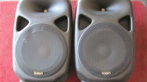 ION Total PA Speakers with stands Peterborough Peterborough Area image 1