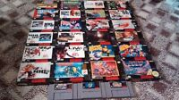 SNES games/boxes/manuals for sale!