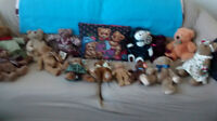 bag full of collector teddy bears pet&smoke free home 10.00 for
