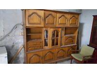 Huge solid wood dresser cabinet