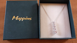 New in Box white gold and Sapphire necklace