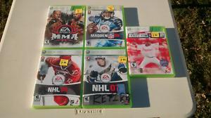 X-box 360 games (sports)
