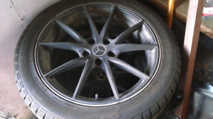 Mercedes Winter Tires with black rims