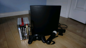 PS3 SLIM. COMES WITH 6 GAMES.