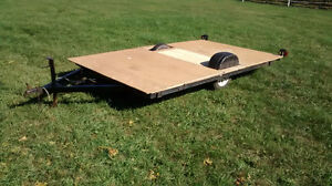 Utility Flat Deck Trailer 7x11 with jack, new light ATV, sleds