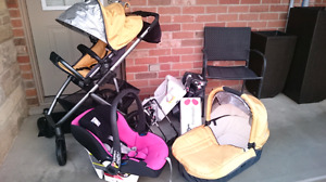 Uppa Baby Stroller,  Car Seat,  Accessories Package