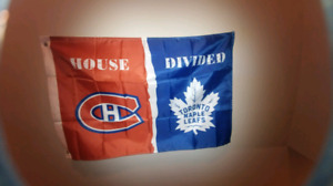 MONTREAL CANADIANS/ TORONTO MAPLE LEAFS BANNER
