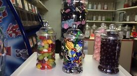 Sweet jars filled with any sweets Xmas gifts