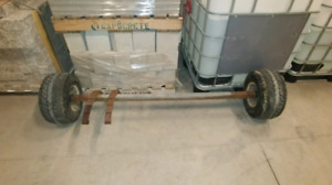 2000lb sq. tube axle w/leaf springs and tires...