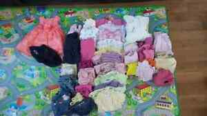 Girls clothing lot 3-6 months