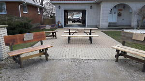 Benches picnic table