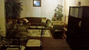 Partially furnished 1  bedrm lower level