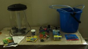 3 Gallon Tetra Cylinder Fish Tank and Accessories