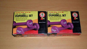 4 poids new haltères weight lifting dumbbell set 1 lb gym