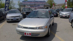 1999 Toyota Corolla CE Sedan.WOW LOW 151032KM ONLY .ICE COLD/AC
