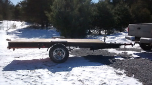 Home made trailer built strong will take a ton easy 750$