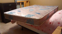 Two Mattresses and a Box Spring