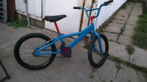 Kids blue and red BMX