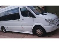 9-17 seater Minibus hire with driver, Minibus rental with driver