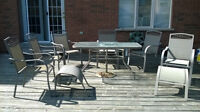 For Sale: Patio Set with 6 chairs