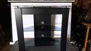 Wood glass top TV. Stand